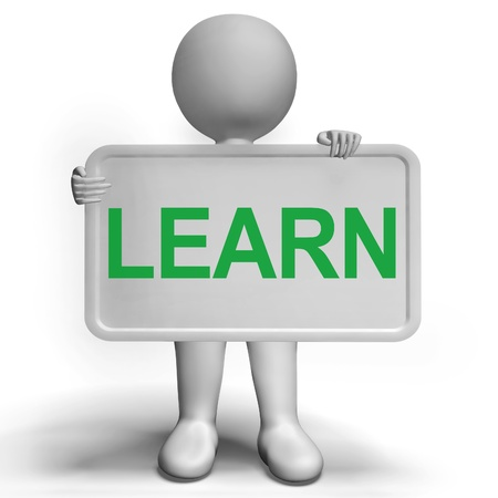 elearn: Learn Sign Shows Education Training Or Learning