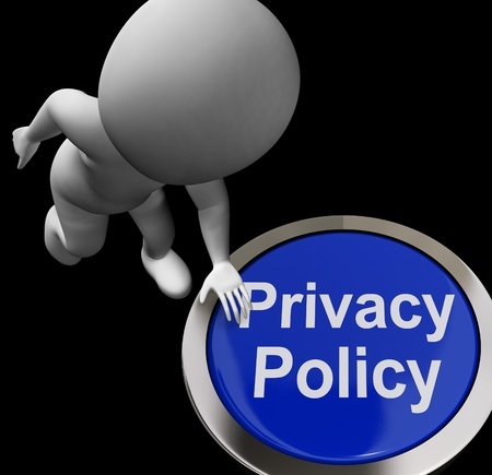 Privacy Policy Button Showing The Company Data Protection Terms Stock Photo - 18271147