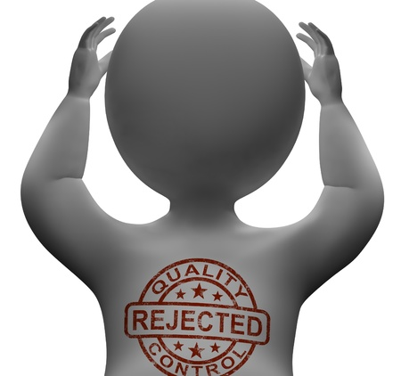 Rejected Stamp On Man Shows Failed Products Stock Photo - 18271124