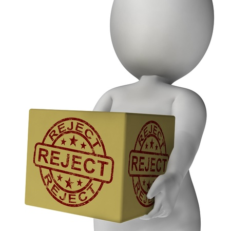 disallowed: Reject Stamp On Box Showing Rejection Or Denied Product