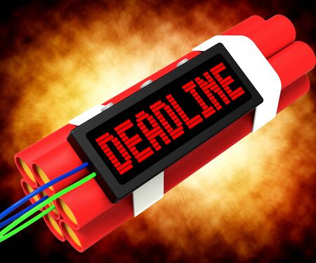 tardiness: Deadline On Dynamite Shows Pressure And Urgency