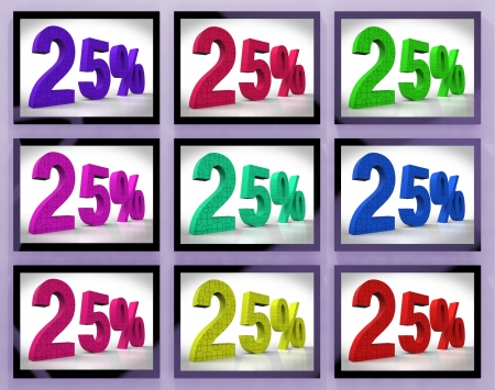 25% On Monitors Shows Special Offers And Reductions Stock Photo - 18271374