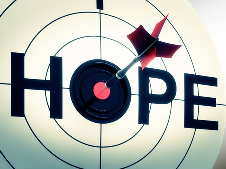 hope sign: Hope Showing Sign Of Wishing And Hoping