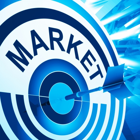 targeted: Target Market Meaning Consumer Targeted Advertising Strategy Stock Photo