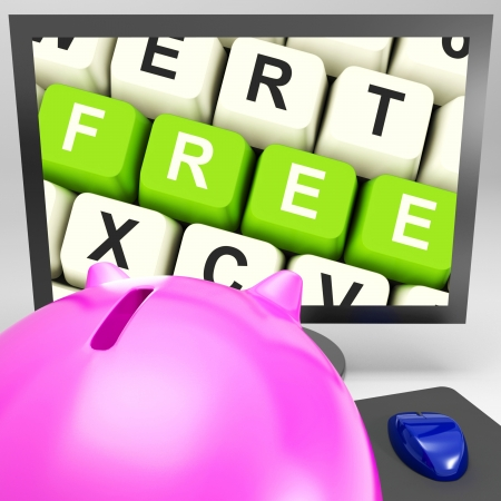 freebie: Free Keys On Monitor Shows Free Trial Or Special Offer