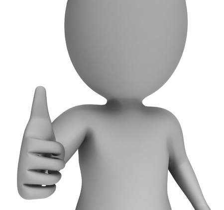 Thumbs Up Showing Support Approval And Confirmation Stock Photo - 18271133