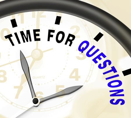 Time For Questions Message Shows Answers Needed photo