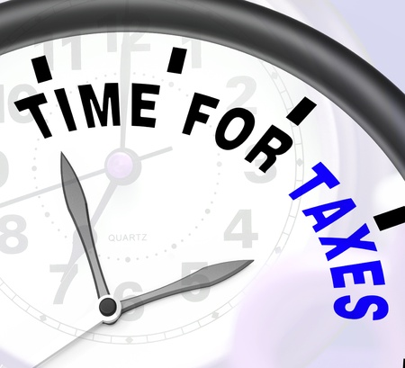 due: Time For Taxes Message Showing Taxation Due