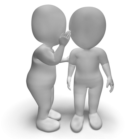 blab: Whispering Gossip 3d Characters Having Secrets And Blab