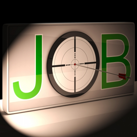 vocation: Job Target Showing Work And Career Vocation