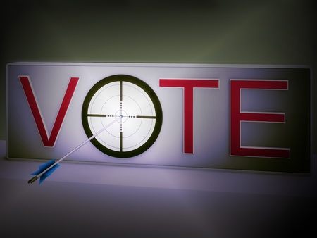 Vote Target Meaning Evaluation Of Choice And Decision Stock Photo - 18271267