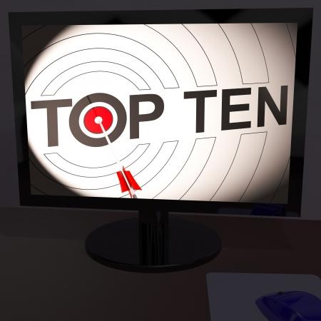 eligible: Top Ten El monitor muestra la Competencia Elegible clasificaci�n o Musical