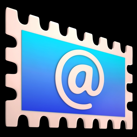 mailing: E-mail Stamp Showing Online Mailing Communication Post