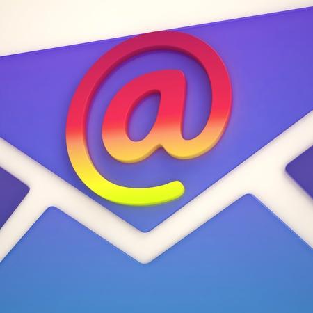 correspond�ncia: No sinal Envelope Mostrando Correspond�ncia sobre Web