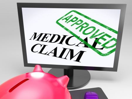 Medical Claim Approved Showing Health Claim Authorised Stock Photo - 18407844
