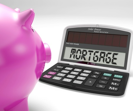 Mortgage Calculator Showing Purchase Of Home Loan Stock Photo - 18407832