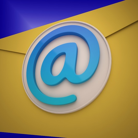 mailing: Email Envelope Showing Contact Mailing Online For Communication