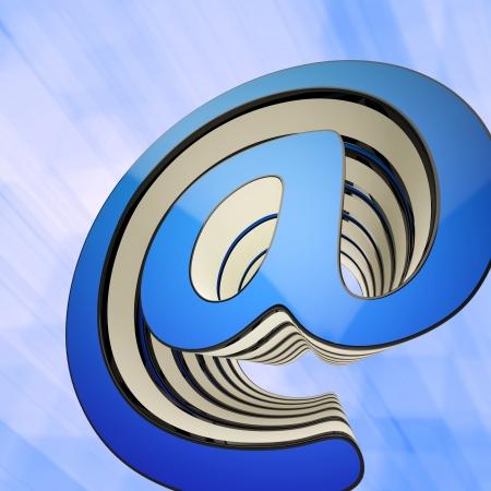 worldwideweb: At-Symbol Showing Communication Online Through www.