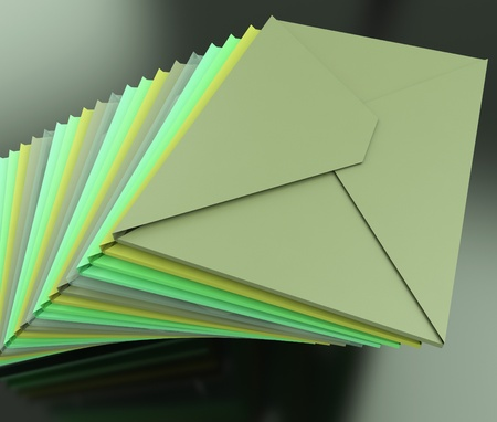 contacting: Stacked Envelopes Showing E-mail Symbol Contacting Sending