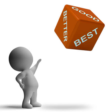 Good Better Best Dice Representing Ratings And Improvement Stock Photo - 18407083