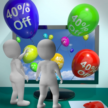 Balloons From Computer Show Sale Discount Of Forty Percent Stock Photo - 18407649