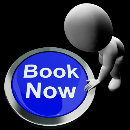 Blue Book Now Button For Hotel Or Flight Reservation Stock Photo - 18407224