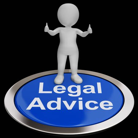 Legal Advice Button Showing Attorney Expert Guidance