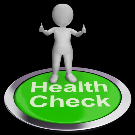 Health Check Button Showing Medical Condition Examinations photo