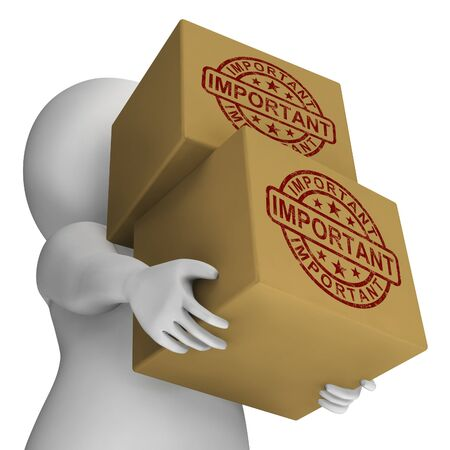 Important Stamp On Boxes Showing Critical Delivery
