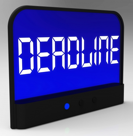 tardiness: Deadline On Clock Showing Pressure And Countdowns