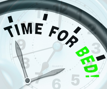 müdigkeit: Time for Bed Zeige Insomnia oder M�digkeit