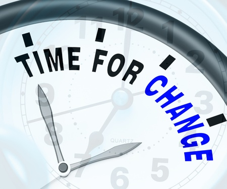 vary: Time For Change Meaning Different Strategy Or Vary Stock Photo