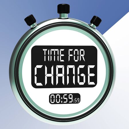 vary: Time For Change Showing Different Strategy Or Vary
