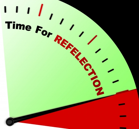 reflect: Time For Reflection Message Means Ponder Or Reflect