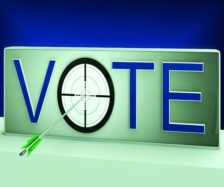 Vote Target Meaning Evaluation Poll Election Choice Stock Photo - 18407567