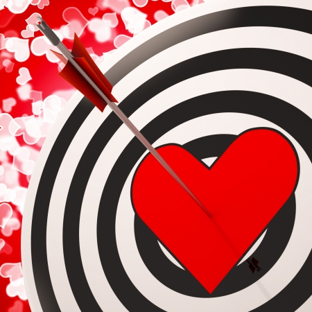Heart Target Shows Success In Love And Romance photo