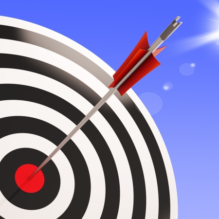 achieved: Bulls eye Target Showing Performance Business Goal Aim Achieved