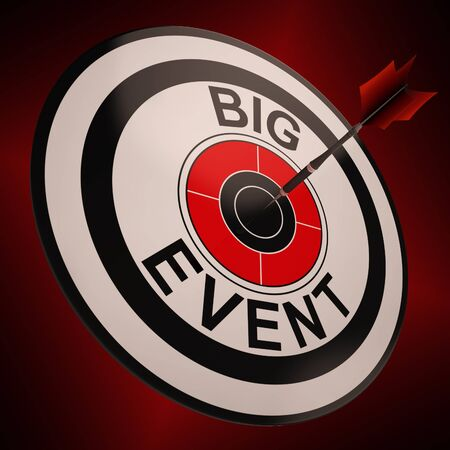 festivities: Big Event Target Showing Upcoming Festival, Event Or Festivities