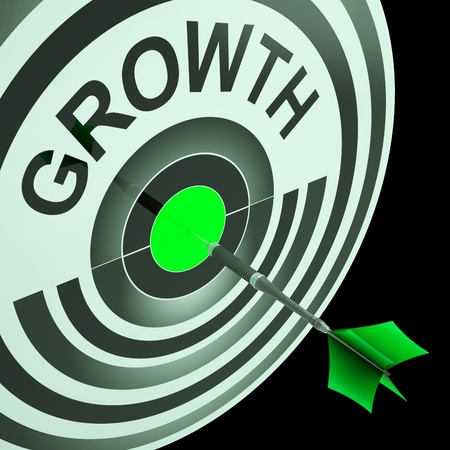 bigger: Growth Meaning Get Better, Bigger Mature And Developed