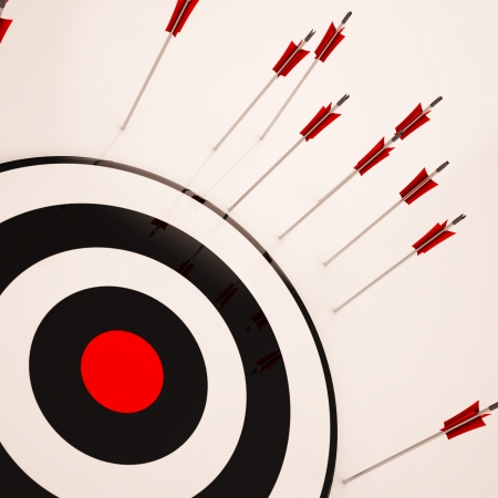 unsuccessful: Missed Target Showing Failure Loss And Unsuccessful Aim