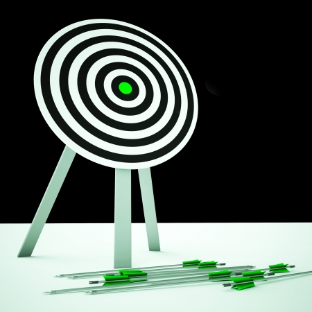 ineffective: Arrows On Floor Showing Loser Or Imprecise Aim
