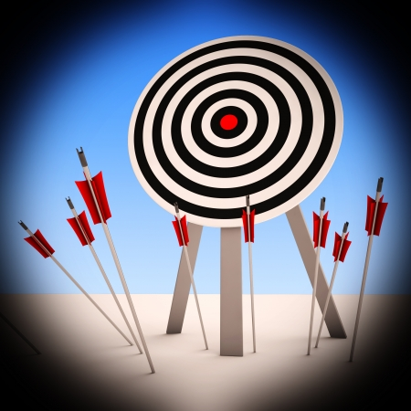 ineffective: Arrows On Floor Shows Ineffective Targeting Or Failure