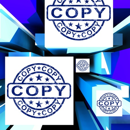 replicated: Copy On Cubes Shows Duplicates Or Photocopies
