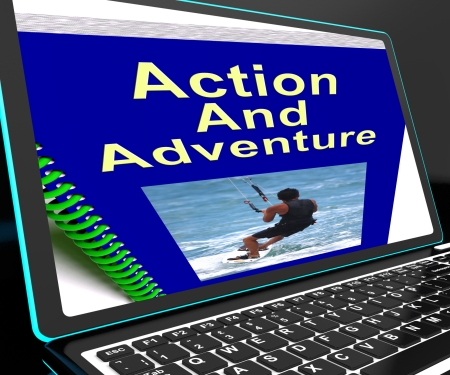 expeditions: Action And Adventure On Laptop Shows Expeditions And Extreme Sports
