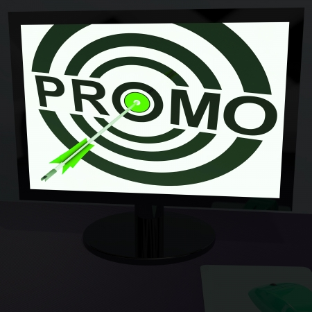 closeout: Promo On Monitor Shows Offers And Special Promotions