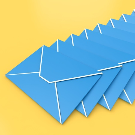 contacting: Envelopes Showing E-mail Symbol Contacting Sending Inbox
