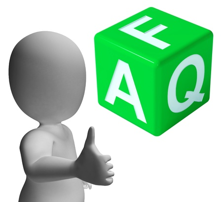 frequent: Faq Dice As Symbol For Information Or Assisting Stock Photo