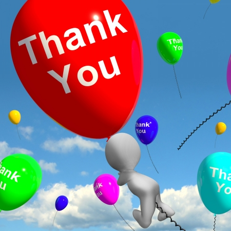 gratefulness: Thank You Balloons Shows Thanks And Gratefulness