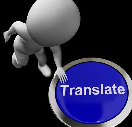 multilingual: Translate Button Showing Online International Multilingual Translators
