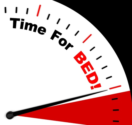 overtired: Time for Bed  Meaning Insomnia Or Tiredness